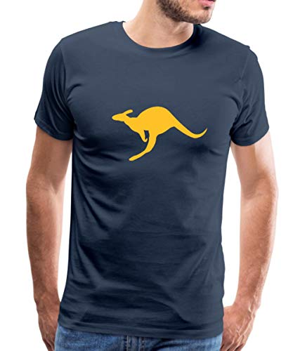 Spreadshirt Känguru Australien Beuteltier Männer Premium T-Shirt, S, Navy