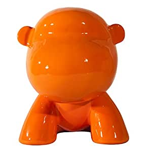 The Crazy Art Factory CA1068 Sculpture Crazy Gorilla Grand Modèle Orange 30 cm
