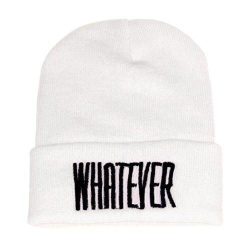 Preisvergleich Produktbild URIBAKY Winter Schwarz was Auch Immer Mütze Hut und Snapback Männer und Frau Deckel (Weiß)