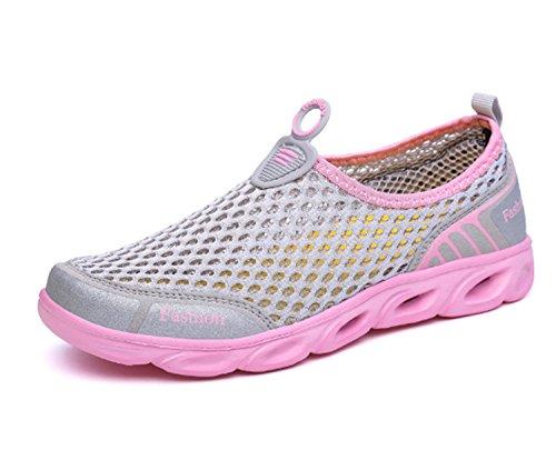 Scarpe da ginnastica alla moda da donna Shape-Ups Slip On Scarpe sportive da passeggio Scarpe da ginnastica atletiche Scarpe da corsa traspiranti Mocassini da esterno Gray