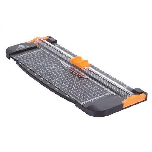 JLS AZ-102 A4 Rollenschneider, Papier & Foto Schneidegerät Schneidemaschine Papierschneider, Schnittlänge 310mm, Schneidet bis zu 12 Blattes (80g/sm), Gewicht: 0.5KG Größe: 15*5.5 inch *Schwarz-Gelb*
