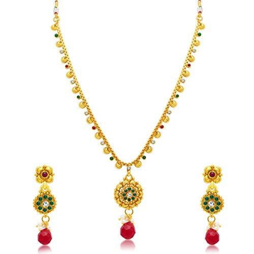 Sukkhi Exquisite Gold Plated Choker Necklace Set For Women