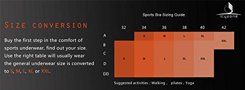 icyZone® Femme Soutien-gorge de Sport Sous-vêtements Bra Brassière pour jogging Yoga Gym Fitness Lotus