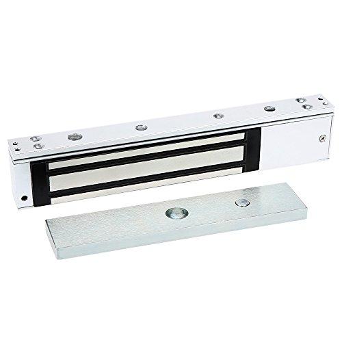 kkmoon Single Door Elektro Magnetic Elektromagnetische Lock 280KG (272) Haltekraft für Access Control 12V mit LED-Licht (Access Lock Control)