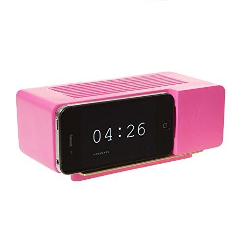 Areaware Alarm Dock Docking Station iPhone 4 / 4S pink Pink Iphone Alarm