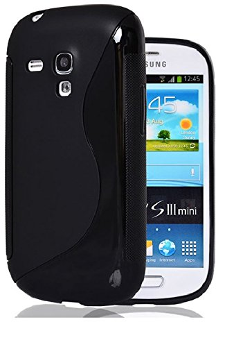S Case Anti-skid Soft TPU Back Case Cover for Samsung Galaxy S3 Mini I8190 (Black)  available at amazon for Rs.225