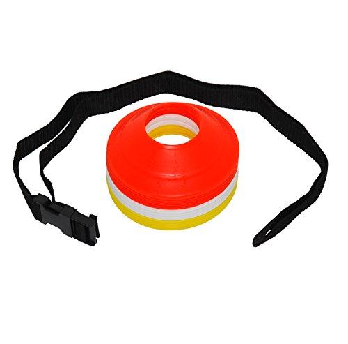 Fußball Innovations Pocket Mini Kegel mit Gurt (24Stück), Neon Orange/Neon Gelb/Alpinweiß Preisvergleich
