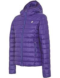 4F Chaqueta de plumas con capucha chaqueta acolchada, otoño invierno otoño/invierno, mujer, color morado, tamaño xx-large