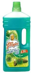 Mr Propre - 81165589 - Nettoyant Ménager Multi-Usages - Forêt de Pins - 1,5 L - lot de 2