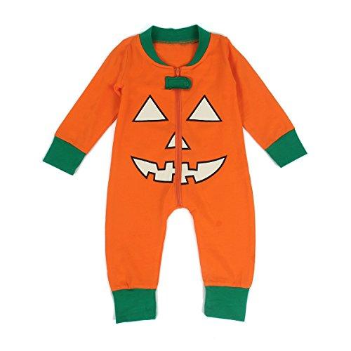 Puseky Kinder Baby Bruder Schwester Halloween Kürbis Pyjamas Nachtwäsche Outfit (3-6 Monate, (Bruder Schwester Kostüme Halloween)