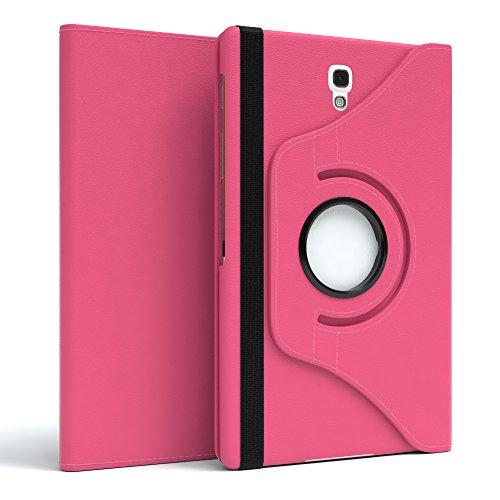 EAZY CASE Tablet Hülle für Samsung Galaxy Tab S 8.4, 360° Standfunktion I Schutzhülle mit Sleep und Wake Funktion I Tablethülle, Case aus Kunstleder, Pink