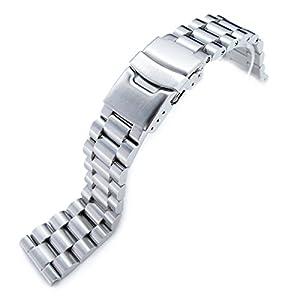 22 mm aus 316L Edelstahl endmill Metall Armbanduhr, Abschluss gerade