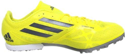 adidas Performance adizero MD 2 Q34041, Scarpe da corsa unisex adulto Giallo (Gelb (Vivid Yellow S13 / Black 1 / Black 1))