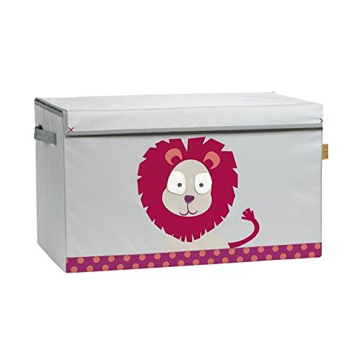 Lässig 1541003717 4Kids Toy Trunk Wildlife Löwe, rosa