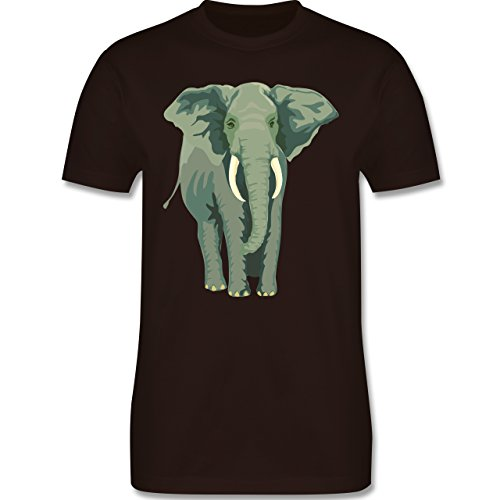 Wildnis - Elefant - Herren Premium T-Shirt Braun
