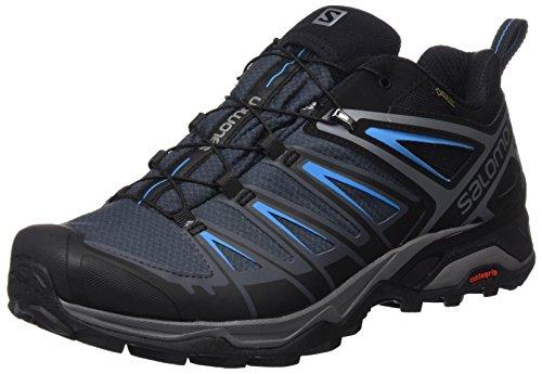 Salomon X Ultra 3 GTX, Zapatillas de Senderismo para Hombre, Negro (Black/India Ink/Hawaiian Surf), 45 1/3 EU