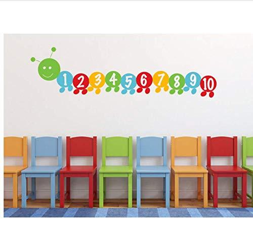 Liwendi Sehr Hungrig Insekt Digitale Aufkleber Zählen Digitale Applique Kind Wandaufkleber Kinderspielzimmer Wandtattoo 90 * 25 Cm