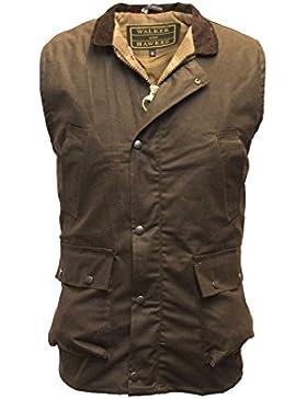 Para hombre chaleco de cera para hombre chaleco Countrywear chaleco marrón S-5X L