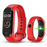 fancheng M4 Fitness Tracker Watch, Braccialetto Sportivo Intelligente - 0.96 IPS Smart Watch con Display a Colori con frequenza cardiaca, contacalorie