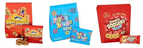 ektieren Pack. Jammie Dodgers, party Ringe, Maryland Choc Chip Cookie 19 klein beutel für Kinder Partys, butterbrotdosen, Snacks (Silvester-party Pack)