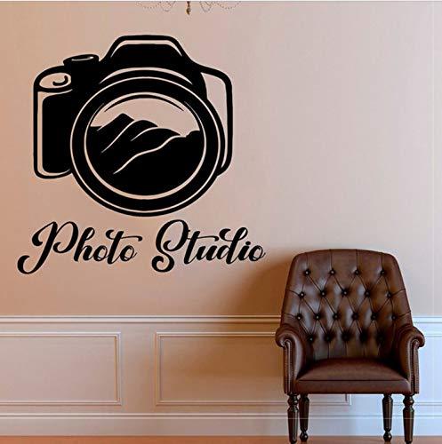 HLZLA Fotostudio Zitate Kamera Kunst Dekoration Vinyl Wandaufkleber Selbstklebende Folie Abnehmbare Aufkleber Fenster Decor Wandbild 43x42 cm