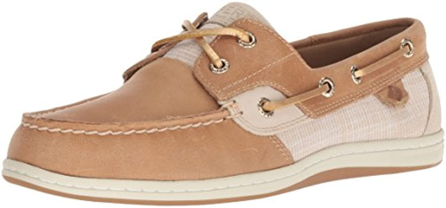 Sperry Top-Sider Wouomo Koifish Sparkle Crosshatch Boat scarpe, Linen oro, 7 M US | Ricca consegna puntuale