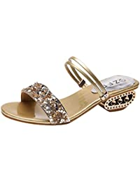 1588a5948 Luckycat Oferta de liquidación! Calzado Chancletas Tacones Mujer Zapatilla  de Diamantes de imitación Sexy Sandalias
