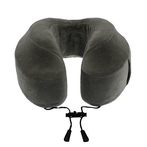 Cuscino Cabeau Evolution- in memory form - comprensivo di piccola custodia, supporti laterali rialzati, imbottitura posteriore piatta per il collo, fodera lavabile, tasca per dispositivi multimediali