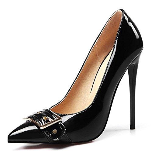 COOLCEPT Mode-Event Damen Stiletto High Heels Pumps Fashion Party Shoes Plus Sizes Schwarz