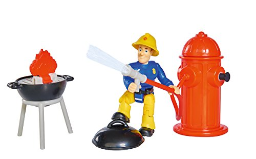 feuerwehrmann figur Simba 109251000 Fireman Sam 109251000-Feuerwehrmann Feuerlöscher-Set, Speilzeug