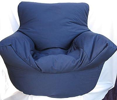 Cotton Navy Blue Bean Bag Arm Chair Seat Hallways ® - inexpensive UK light store.