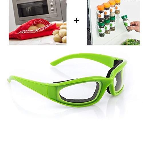 3 x 1 Gafas protectoras Cortar & Picar & Pelar Cebollas