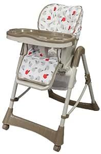 Bambikid chaise haute t lescopique pomme rouge b b s pu riculture - Chaise haute telescopique ...