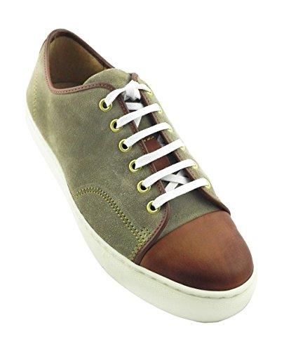 Y Zerimar Color Ligero Cuero De Suela De Calzado Cómodo De tan Beige Caucho Deportivo rP6wr8