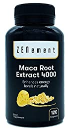 Maca Andina, altamente concentrada 4000mg, 120 cápsulas, mejora los niveles de energía, resistencia, rendimiento atlético, memoria, libido, sistema inmunológico y equilibrio hormonal | 100% Natural