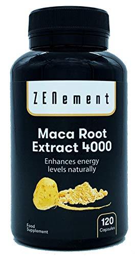 Maca Andina, altamente concentrada 4000mg, 120 cápsulas, mejora los niveles de energía de manera natural | 100{0974726a59474c69c9fd7391ba640b72517a494e00a5e1f05fe342b84aa35df8} Natural