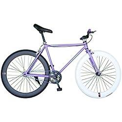 Helliot Bikes Fixie Tribeca H22 Bicicleta Urbana, Unisex Adulto, Púrpura, Estándar