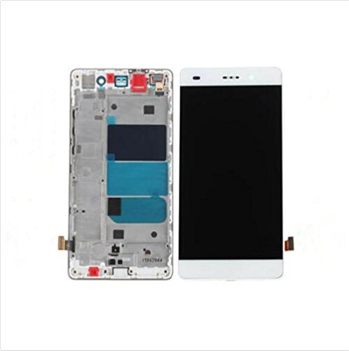 for huawei Huawei P8 Lite Display im Komplettset LCD Ersatz Für Touchscreen Glas Reparatur (Weiß + Rahmen)