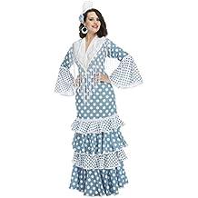 My Other Me Disfraz de flamenca Guadalquivir para mujer, color turquesa, XL (Viving