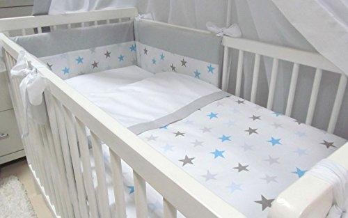 Babymajawelt Baby Bettwäsche Set, Bett Set 5 TEILE, VOILE fürs BABYBETT 70x140 cm, Bettwäsche...