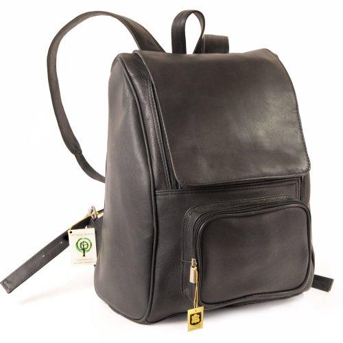 Großer Lederrucksack Größe L / Laptop Rucksack bis 15,6 Zoll, für Damen und Herren, Schwarz, Jahn-Tasche 711