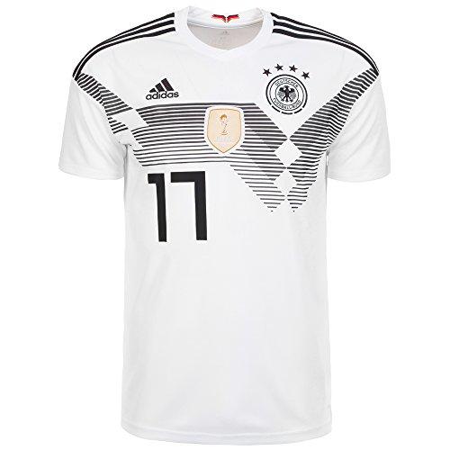 adidas DFB Trikot Home WM 2018 Herren,Weiß/Schwarz,L (Bekleidung Schwarz S/s)