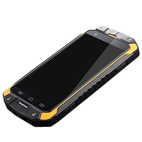 Guophone V9 Smartphone IP68 Wasserdicht Outdoor Handy,Android 5.1 Ohne Vertrag 4 Zoll,eingebaute GPS-Navigation+AGPS,4500mAh,Gelb