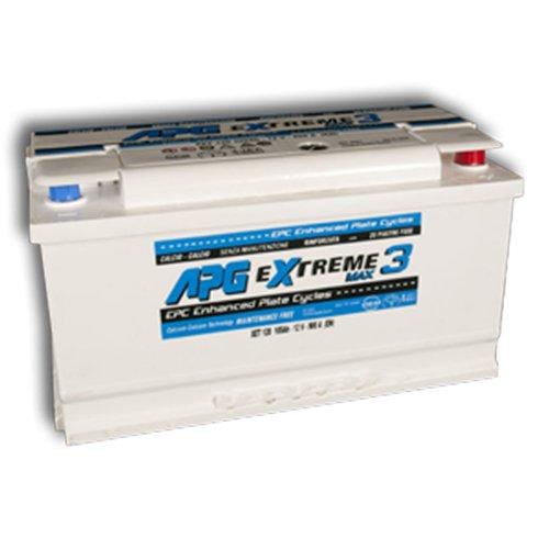 APG XET120 Extreme 3 Max - Batteria auto adatta anche per veicoli con sistema START & STOP in acido libero, 105Ah