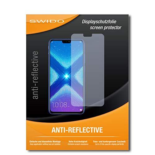 SWIDO Schutzfolie für Huawei Honor 8X [2 Stück] Anti-Reflex MATT Entspiegelnd, Hoher Härtegrad, Schutz vor Kratzer/Bildschirmschutz, Bildschirmschutzfolie, Panzerglas-Folie