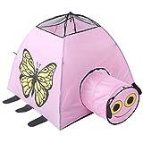 Nalkusxi Kinder Faltbare Spiel Indoor Outdoor Zelt Butterfly Printed Spielzeug Spielhaus, Ocean Wave Pool für Kinder (Color : Pink)