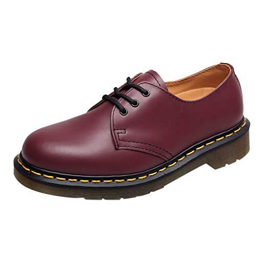 Oliviavan Damen Schuhe Business Schuh Blockabsatz Glattleder Lederschuhe Anzugschuhe Chelsea Boots Britische Retro lederne bloße Stiefel der ()