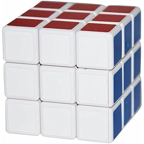coolzon? 2pcs 3x 3x 3Puzzle Magic Cube Toy 57mm, Negro, Color blanco