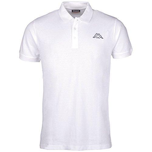 Kappa - Maglietta polo Peleot, Bianco (bianco), XXL