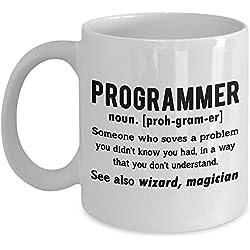 Smbada Taza de café de programación informática Divertida, definición del Programador, programadores, programadores, Ingenieros, compañeros de Trabajo, Friki empollón, Regal